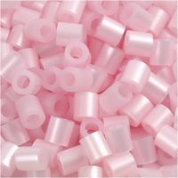 Fuse Beads, size 5x5 mm, hole size 2,5 mm, medium, rose mother-of-pearl (32259), 1100 pc/ 1 pack