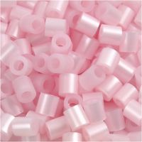 Fuse Beads, size 5x5 mm, hole size 2,5 mm, medium, rose mother-of-pearl (32259), 6000 pc/ 1 pack