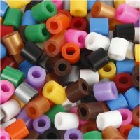 Fuse Beads with a Split, size 5x5 mm, hole size 2,5 mm, medium, standard colours, 1100 asstd./ 1 pack