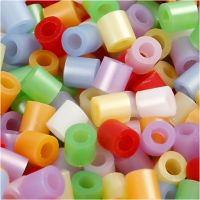Fuse Beads, size 5x5 mm, hole size 2,5 mm, medium, mother of pearl colours, 5000 asstd./ 1 bucket