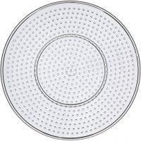 Peg Board, Large round, D: 15 cm, transparent, 10 pc/ 1 pack