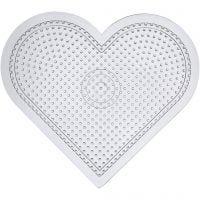 Peg Board, Large heart, H: 15 cm, transparent, 10 pc/ 1 pack