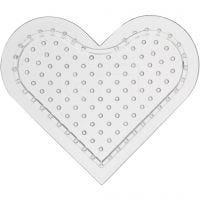 Peg Board, Small heart, H: 8 cm, 10 pc/ 1 pack
