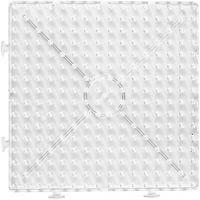 Peg Board, large square, size 15x15 cm, JUMBO, transparent, 1 pc