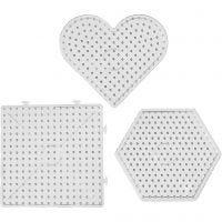 Peg Board, size 15x15-17,5x17,5 cm, JUMBO, transparent, 6 pc/ 1 pack