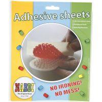 Adhesive sheet, size 15x15 cm, transparent, 8 sheet/ 1 pack
