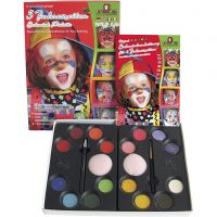 Water Makeup Set with step-by-step, assorted colours, 1 set