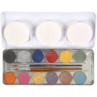 Water-based Face Paint, mother of pearl colours, 12 colour/ 1 set