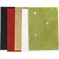 EVA Foam Sheets, A5, 148x210 mm, thickness 2 mm, assorted colours, 5 sheet/ 1 pack
