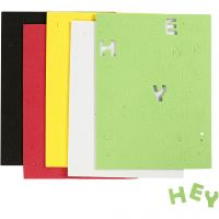 EVA Foam Letters & Numbers, size 2-2,3 cm, assorted colours, 5 sheet/ 1 pack