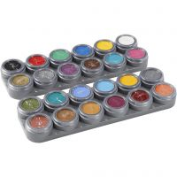 Water-based Face Paint Palette, assorted colours, 24x2,5 ml/ 1 pc