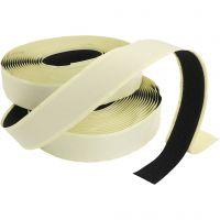 Velcro/Velcro tape, self-adhesive, thickness 2 cm, black, 25 m/ 1 pack