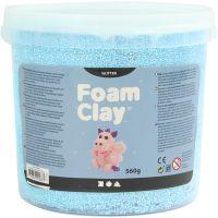 Foam Clay®, glitter, light blue, 560 g/ 1 bucket