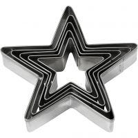 Cookie cutters, star, size 8 cm, 5 pc/ 1 pack