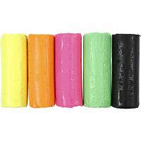 Soft Clay, H: 9,5 cm, neon colours, 400 g/ 1 bucket