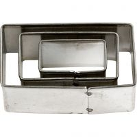 Metal Cutters, rectangle, size 20x40 mm, 3 pc/ 1 pack