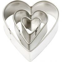 Metal Cutters, heart, size 40x40 mm, 3 pc/ 1 pack