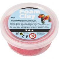 Foam Clay®, metallic, red, 35 g/ 1 tub