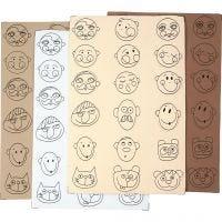 EVA foam faces, D: 30-40 mm, 72 asstd./ 1 pack