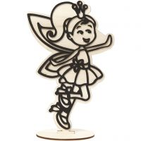 Decoration Figure, fairy, H: 21 cm, 1 pc