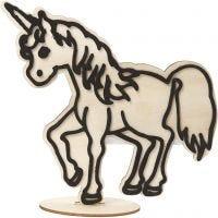 Decoration Figure, unicorn, H: 19 cm, 1 pc