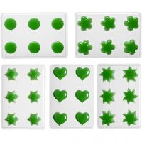 Floating Candle Moulds, flower, heart, sun, star, round, 1 set