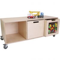 Bookcase with 3 shelves, size 49x119x45 cm, 1 pc