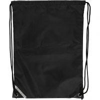 Drawstring bag, size 31x44 cm, black, 1 pc