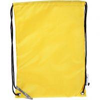 Drawstring bag, size 31x44 cm, yellow, 1 pc