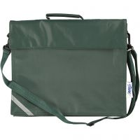 School Bag, depth 6 cm, size 36x31 cm, green, 1 pc