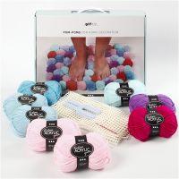 DIY Yarn Kit - Pompoms for Decoration, moss green, 1 set/ 1 box