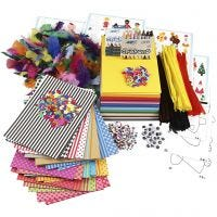 Large Creative Package of Materials and Templates, assorted colours, 1 set