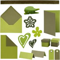 Happy Moments - Card Making Kit, assorted colours, 160 sales units/ 1 pack