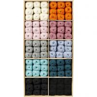 Baby Yarn, assorted colours, 120 ball/ 1 pack