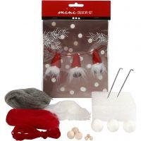 Creative mini kit, Nosy elves on a string, H: 6 cm, 1 set