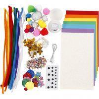Crafting assortment, Rainbow, 1 pack