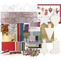 Christmas Decoration Kit, assorted colours, 1 set