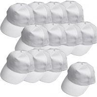 Cap, size 49,5-56 cm, white, 12 pc/ 1 pack