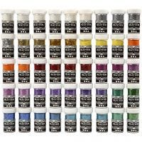 Glitter, assorted colours, 46x20 g/ 1 pack