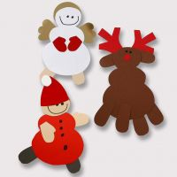 A Reindeer and other Christmas Shapes made from Card
