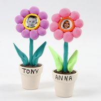 Photos of Children in Silk Clay Flowers