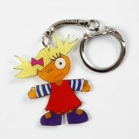 A Shrink Plastic Keyring Fob decorated with Markers