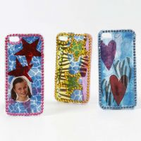 Decoupage and Bling on an iPhone Cover