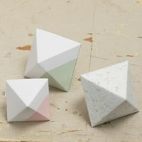 A painted and folded Card Diamond