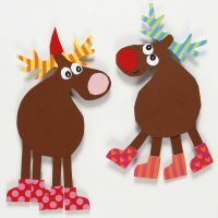 Reindeer made from Card using a Template