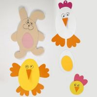 Easter Decorations from Card using a flexible Template