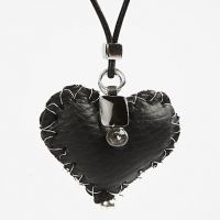 Leather heart pendant