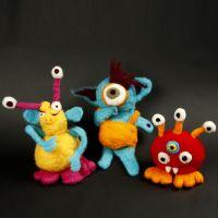 Funny woollen Monsters
