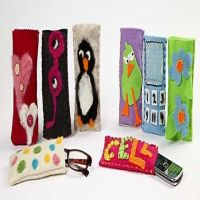 Felt Cases for Glasses and Mobile Phones