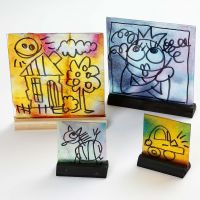 Glass Pictures with Watercolour